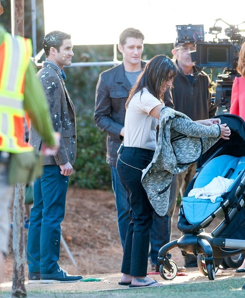 Scenes from the 'Glee' Set