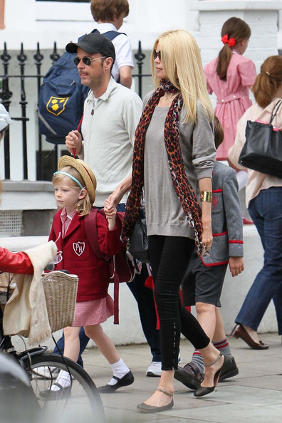 Claudia Schiffer and Family in West London