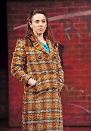 Melanie wears her hair in a half up and half down hairstyle on the Blood Brothers stage.