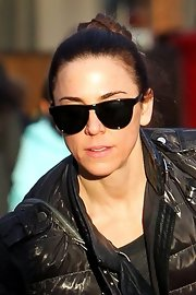 Mel C's wayfarers were a cool finish to her ensemble.