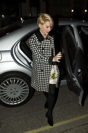 Michelle Williams' retro-chic coat was a fun and funky choice for the actress.