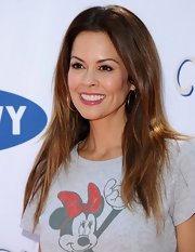 Brooke Burke showed off her sunkissed, ombre locks at the 'Mickey Through the Decades Collection' launch.