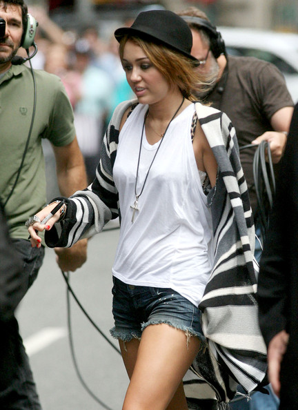 Miley Cyrus Bowler Hat