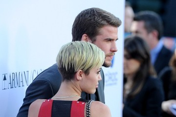 Miley Cyrus Liam Hemsworth Red Carpet Arrivals at the 'Paranoia' Premiere