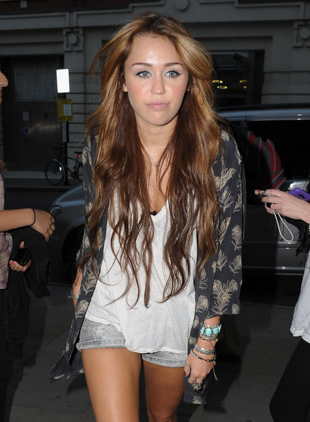 Miley Cyrus Printed Coat