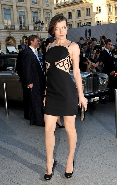Milla Jovovich Cutout Dress