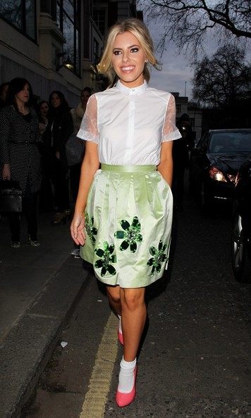 Mollie King Knee Length Skirt