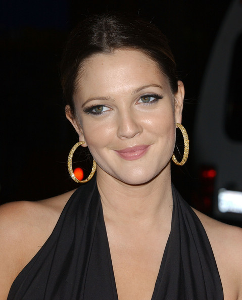 More Pics of Drew Barrymore Gold Hoops (1 of 34) - Drew Barrymore Lookbook - StyleBistro
