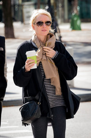 Naomi Watts stepped out for coffee looking cool in her Ray-Ban aviators.