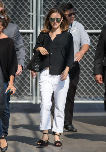 Natalie Portman Button Down Shirt