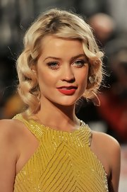 Laura Whitmore was a glam standout at the National Television Awards with this gorgeous finger-wave updo.