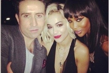 Nick Grimshaw Rita Ora Celebrity Social Media Pics