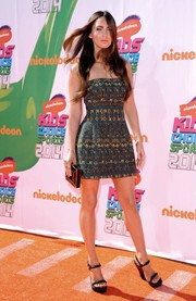 Megan Fox hit the Nickelodeon's Kids' Choice Sports Awards in this cute strapless cocktail dress.