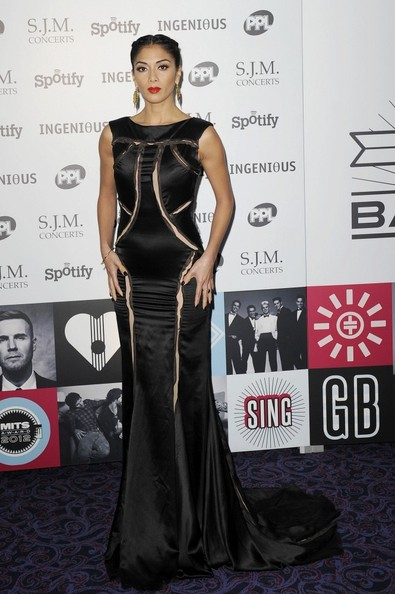 Nicole Scherzinger Evening Dress