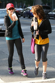 Nikki Reed slips on a baseball cap during trips to the gym (she's a Pistons fan).