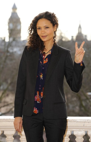 More Pics of Thandie Newton Medium Curls (2 of 12) - Hair Lookbook - StyleBistro