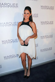 Vanessa Lachey selected this blousy chiffon dress for the opening of Marguee Night Club in Australia.