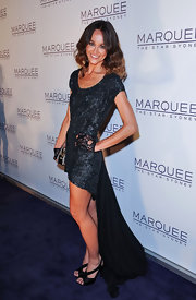 Sharni Vinson tried out this dramatic fishtail dress on the red carpet of the Marquee Night Club opening in Australia.