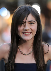 "Isabelle shows off her new side swept bangs and her adorable smile at the ""Orphan"" premiere."