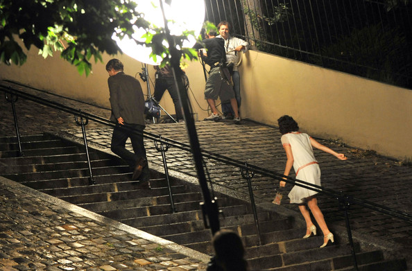 Owen Wilson Films on the Montmartre Steps