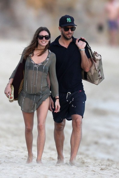 Olivia Palermo and Johannes Huebl at Saline Beach