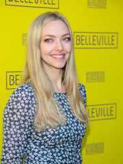 Amanda Seyfried looked boho with her center-parted, layered cut at the opening of 'Belleville.'