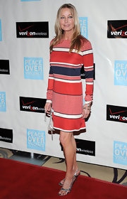 Bo Derek channeled the '60s in a print sweater dress at the Peace Over Violence Humanitarian Awards.