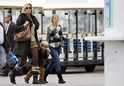Penny Lancaster had a carryall tote on hand for spending a day with her family at the FunFair.