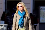 Penny Lancaster-Stewart Leather Jacket