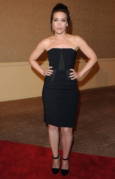 Piper Perabo Strapless Dress