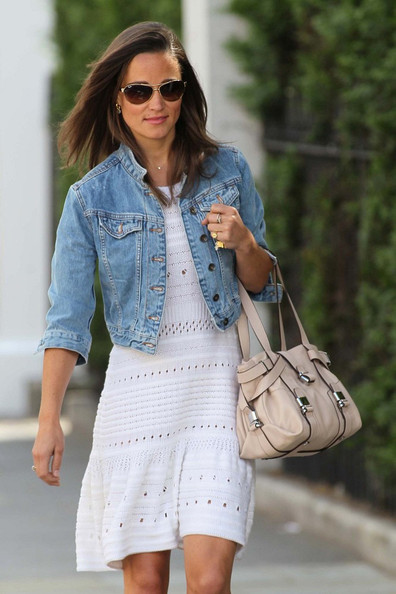 Pippa Middleton Denim Jacket - Denim Jacket Lookbook - StyleBistro