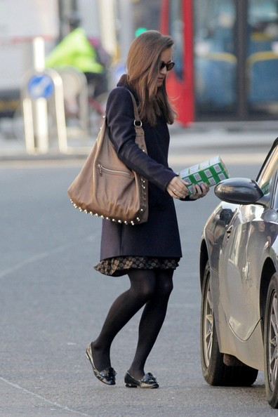 Pippa Middleton Leather Slip On Shoes