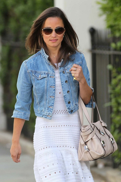 More Pics of Pippa Middleton Denim Jacket (12 of 12) - Pippa Middleton Lookbook - StyleBistro