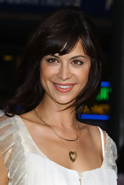 Catherine Bell went for a totally sweet look at the premiere of 'Collateral,' pairing a heart pendant necklace with a ruffle blouse.
