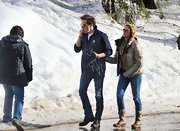 Princess Madeleine wore a thick brown puffa jacket as she accompanied her boyfriend at the ski resort.