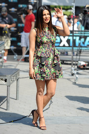Priyanka Chopra completed her look with brown slim-strap sandals.