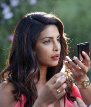 Priyanka Chopra accessorized with a classic gold watch while filming 'Isn't It Romantic.'