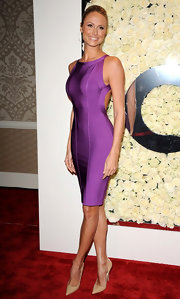Stacy Keibler paired her sexy dress with equally sexy shoes, opting for classic stilettos.