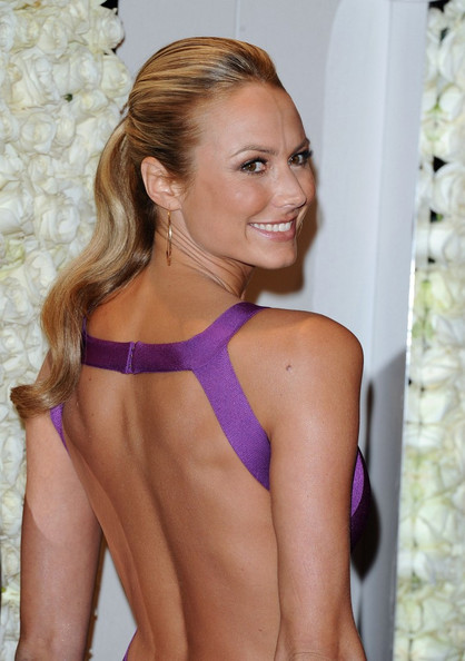 More Pics of Stacy Keibler Gold Hoops (1 of 27) - Stacy Keibler Lookbook - StyleBistro