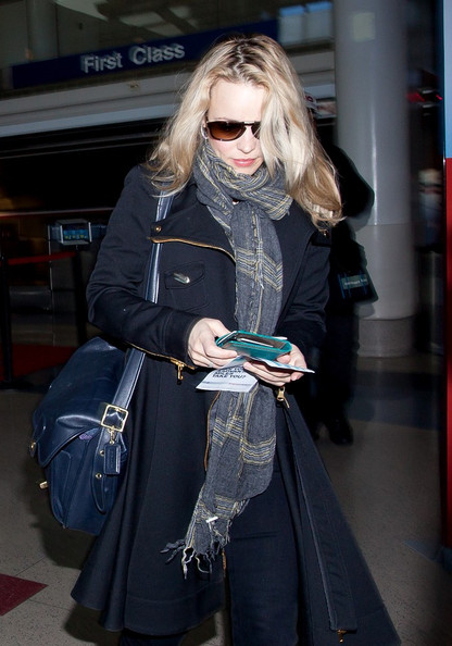 Rachel McAdams Leather Messenger Bag
