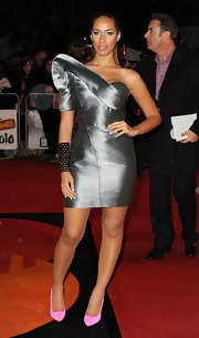 Adding some inspiration from Wonder Woman, Leona sported an arm cuff which gave her futuristic ensemble a hint of edge.