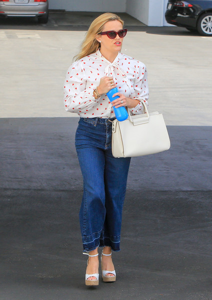 Reese Witherspoon Print Blouse []
