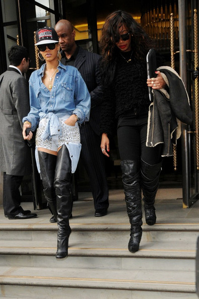 more pics of rihanna the knee boots 11 of 16
