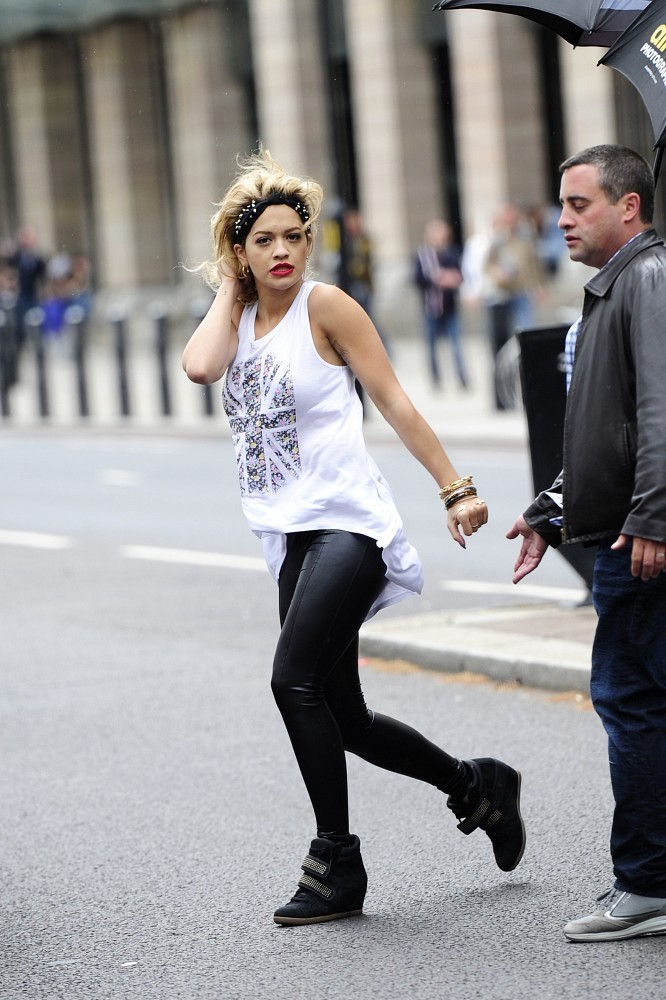 Rita Ora on a London Photo Shoot