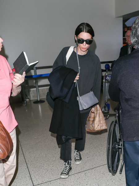 More Pics of Rooney Mara Canvas Sneakers (2 of 9) - Athletic Shoes Lookbook - StyleBistro []