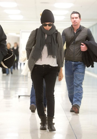 More Pics of Rooney Mara Solid Scarf (1 of 12) - Scarves Lookbook - StyleBistro []