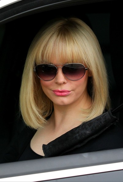 Rose McGowan Medium Straight Cut with Bangs