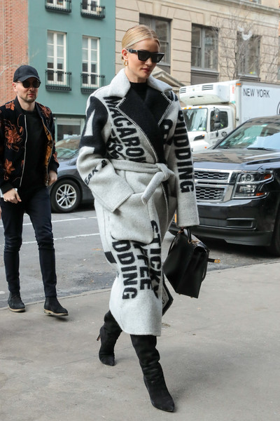 Rosie Huntington-Whiteley Printed Coat