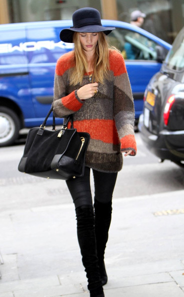Rosie Huntington-Whiteley Scoopneck Sweater