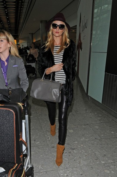 Rosie Huntington-Whiteley in Parisian-inspired stripes.